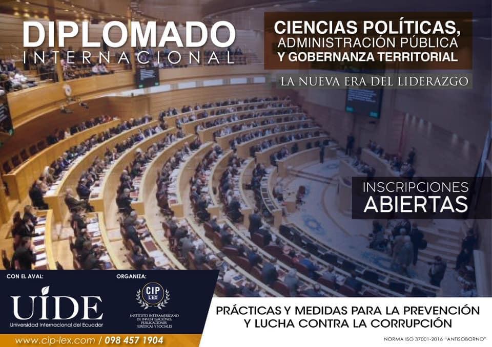Diplomado en Ciencias Políticas, Administración Pública y Gobernanza Territorial