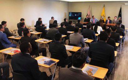 Capacitación a la Unidad de Inteligencia Anti delincuencial de la Policía Nacional del Ecuador en Técnicas de Litigación Oral y Derecho Procesal Penal