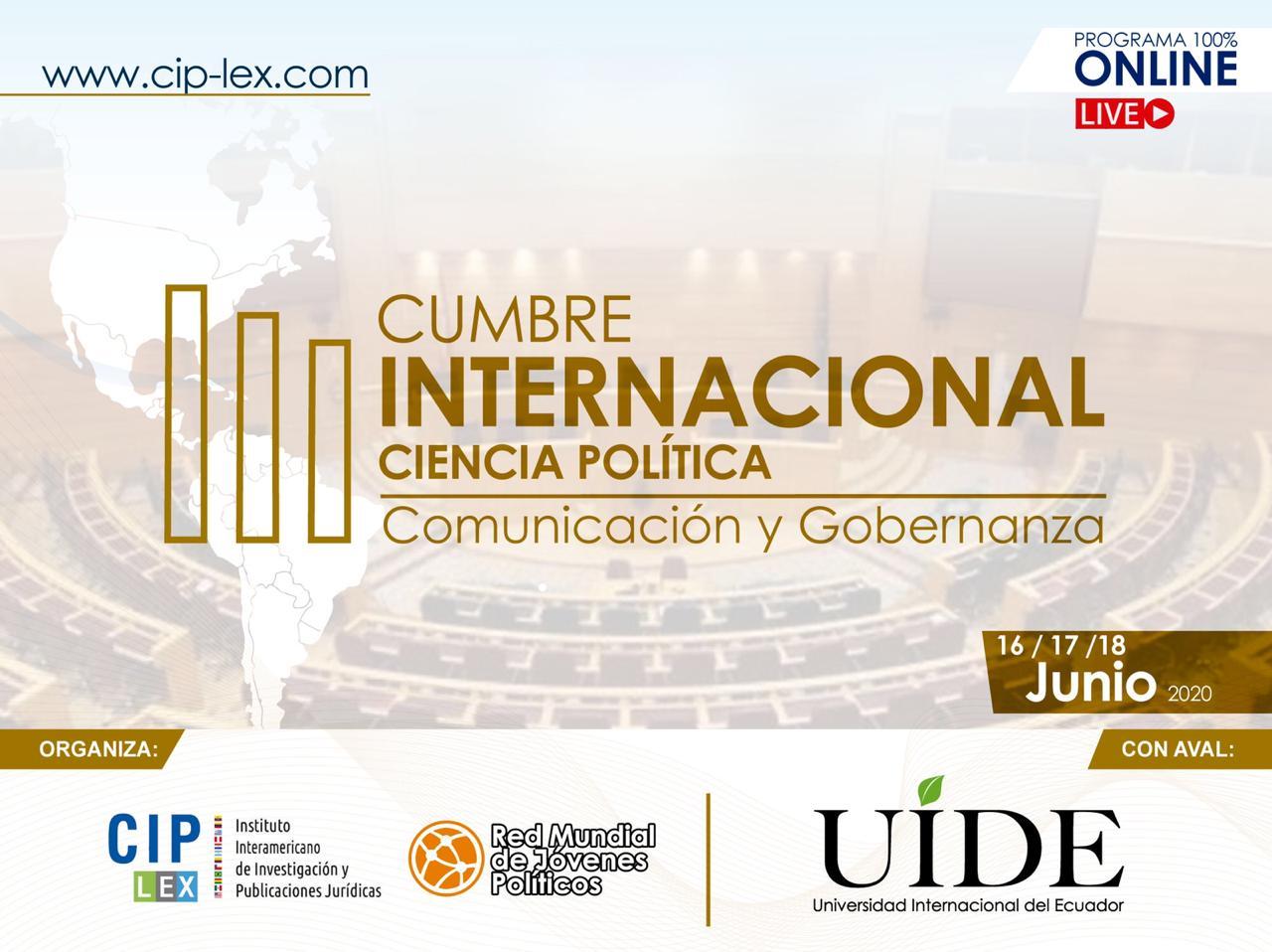 Cumbre Internacional Ciencia Política, Comunicación y Gobernanza