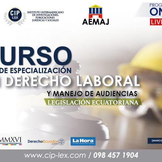 Curso de Especialización en Derecho Laboral
