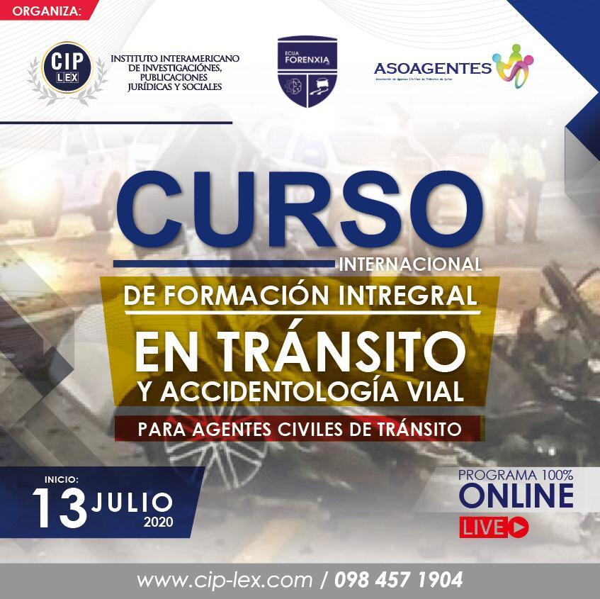 Curso Internacional de Formación Integral en Tránsito y Accidentología vial