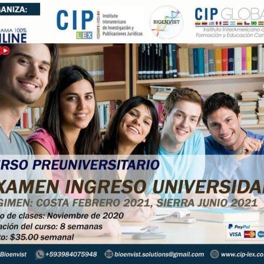 Examen Ingreso Universidad