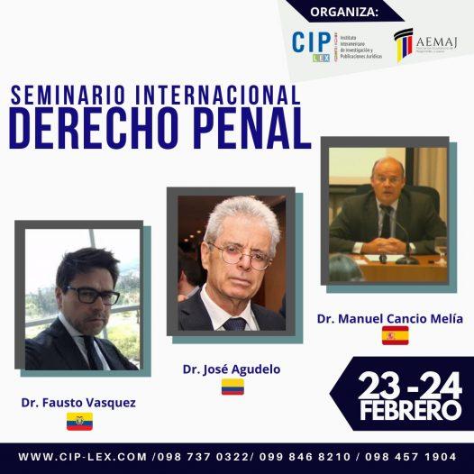 I SEMINARIO INTERNACIONAL DERECHO PENAL
